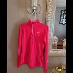 Nike Dri fit women's athletic jacket top pink s